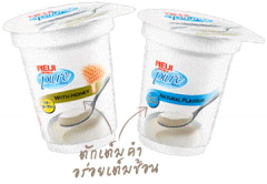 Natural fruit yoghurt