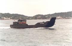 Landing craft with passenger saloon