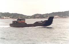 Landing craft with passenger saloon