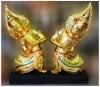 Thai Angel Wood Carving with Glass