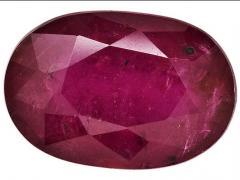 Oval Mahaleo Ruby Gemstone