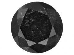 Black Round Diamond Cut