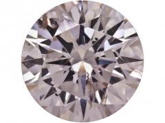 Natural Light Brownish Pink Diamond