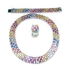 Colorful Sapphire Jewellery Set