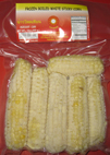 Frozen Small White Sticky Corn