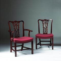 Classic Chippendale Side & Elbow Chair