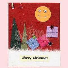 Card Toppers - Christmas Full Moon & Christmas Gifts on the Red Card Topper