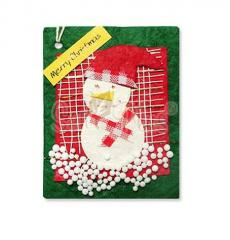 Card Toppers - Christmas Snowman on the Green Card