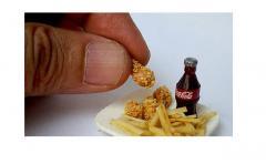 Miniature dollhouse food