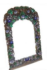Mirror With Carved Mirrored Flowers
