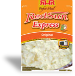 Rice, red sun