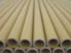 Paper cores for plastic material