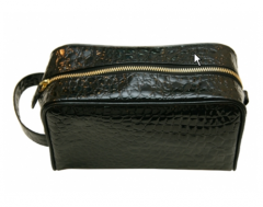 Enamel Croco Cosmetic Bag