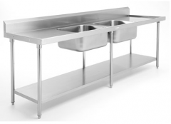 Double Sink Bench W/Upstand