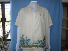 Hawai shirt with print screen ocean batic