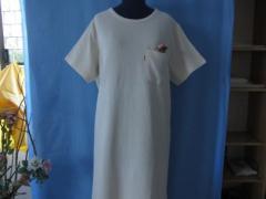 Plain dres swith short sleeve