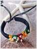 Reggae Style with Five White Shark Tooth Leather Bracelet Natural Handmade Jewelry