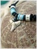 Blue & Bone Bead White Shark Tooth Necklaces Natural Jewelry Gift