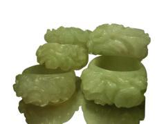 Natural jade rings