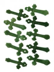 Handcrafted 2 sided jade cross pendants
