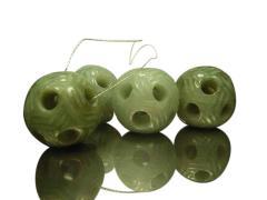 Jade football pendants