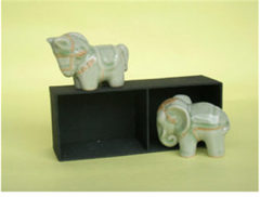 Gift Sets (Elephant,Horse With Silk Box)