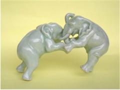 Figurines (Fighting Elephant)