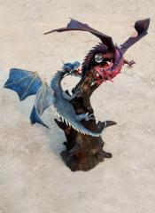 Mythical dragons at war  WD00105