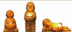Yellow sandstone Buddha