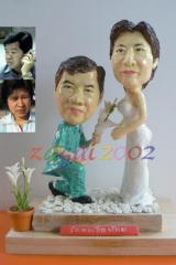 Sculpture of a wedding