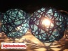 20 Blue Rattan Ball String Party