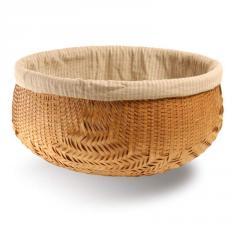Round lined bamboo basket - Extra large