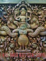 The Lintel Wall Stone Carving Khmer Art
