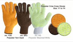Polyester Criss Cross Gloves