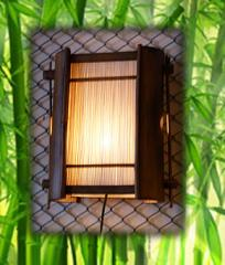 Half bamboo wide lamp