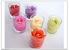 Candle Dahlia in glass