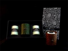 Votive Candle + glass holder Set