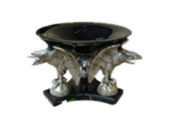 Eagle Base With Marble Bowl