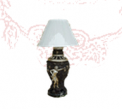 Lady Holding Grape Lamp