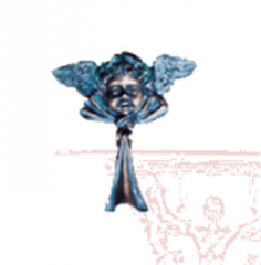 Angel Face With Ribbon Door Knocker