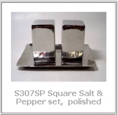 Handmade Stainless Steel Salt & Pepper
