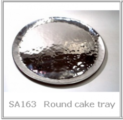 Handmade Stainless Steel  Round cake tray