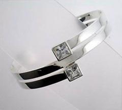 Cuff silver bangle