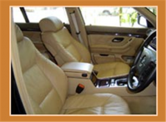 Automotive upholstery leather