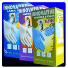 Powdered latex gloves
