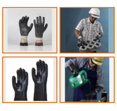 PVC coated cotton gloves. Interlock Cotton Glove