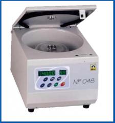 The centrifugation. Blood samples.