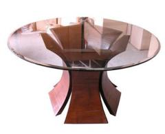 Flora table round glass top, 5 petals