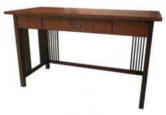 Working table, slat bamboo