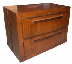 Curve front 2 drawer cabinet